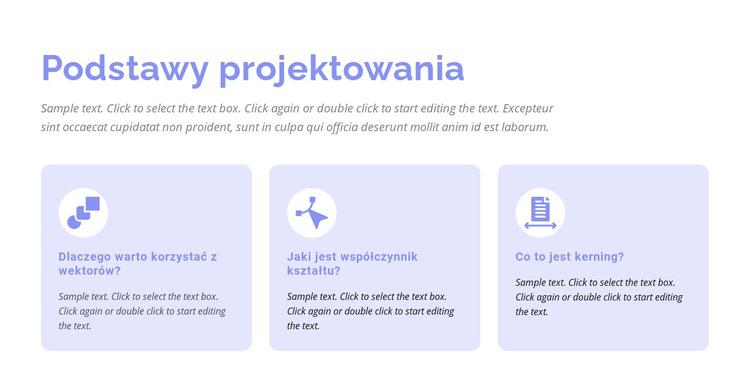 Podstawy projektowania Szablon witryny sieci Web