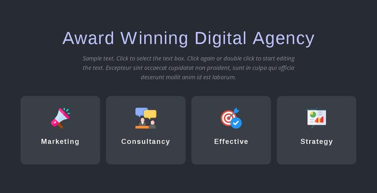 Award winning agency services Website Template