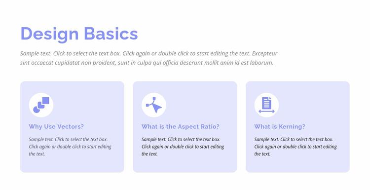 Design basics Website Template