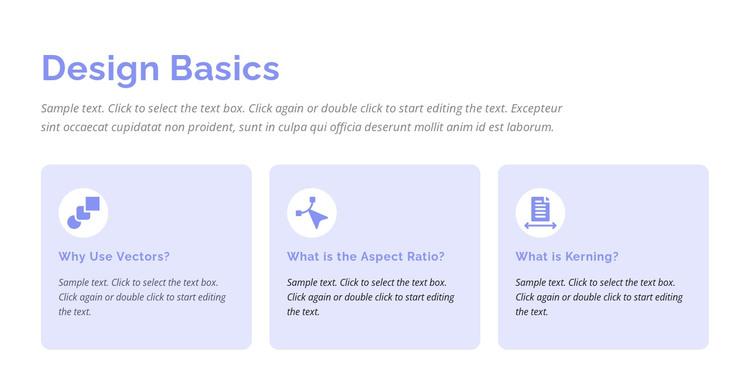 Design basics WordPress Theme