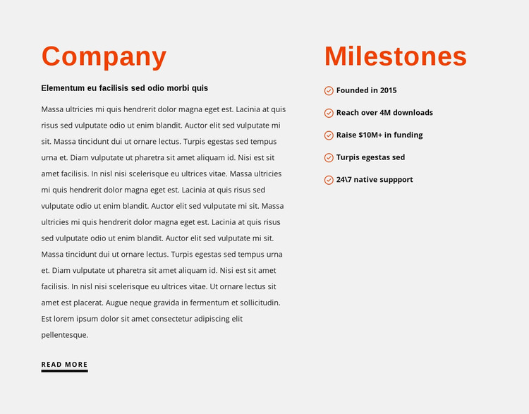 Milestones WordPress Theme