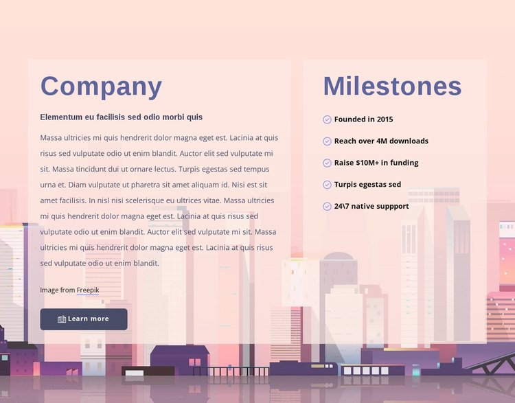 About development company Template