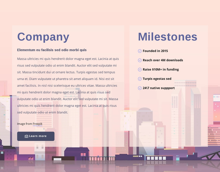 About development company Website Template