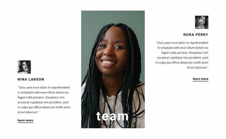 Successful team Website Template
