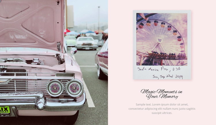 Exhibition of retro cars WordPress Website Builder