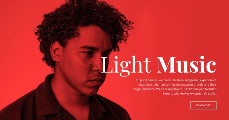 Music center Website Design