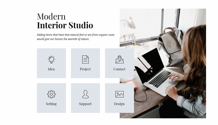 Modern interior studio  WordPress Website Builder