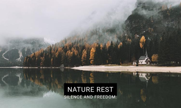 Lake spa resort HTML Template