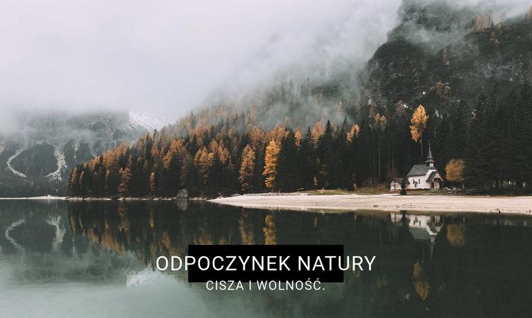 Ośrodek uzdrowiskowy nad jeziorem Szablon witryny sieci Web