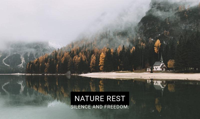 Lake spa resort Web Page Design