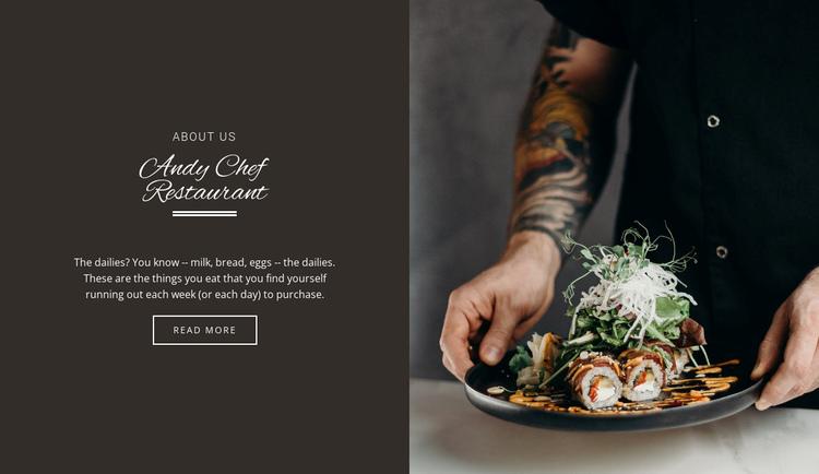 Andy Chief Restaurant Website Builder Software