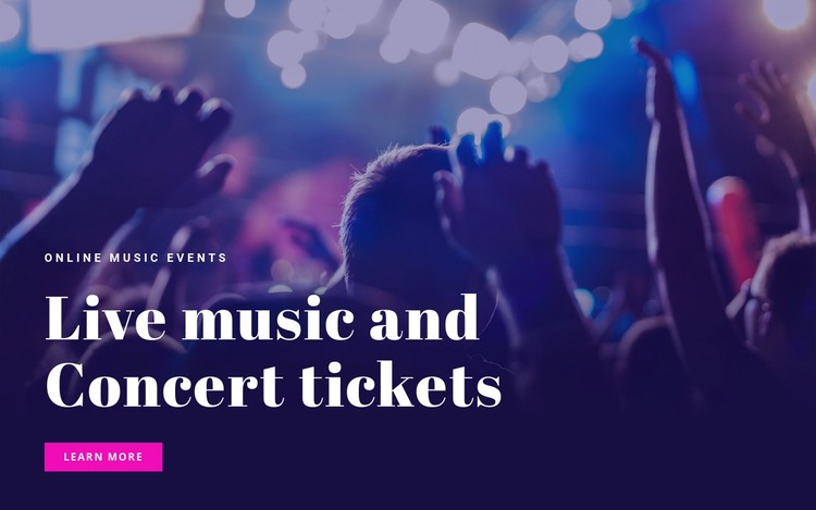 Live mosic and concert tickets  Static Site Generator