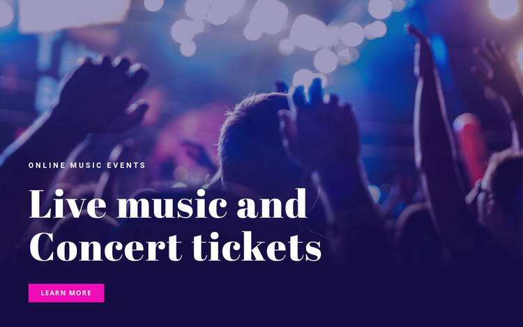 Live mosic and concert tickets  Website Builder