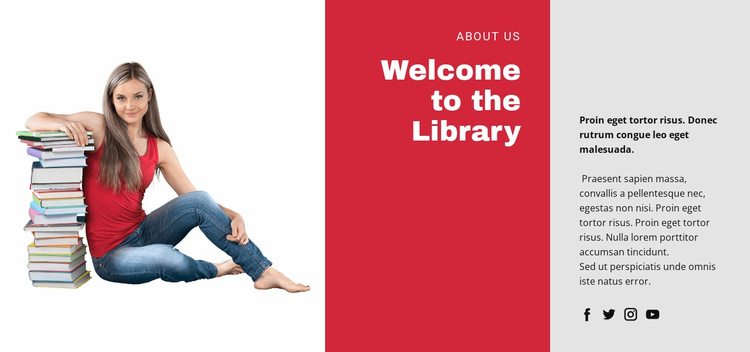 Educational online library  Website Template