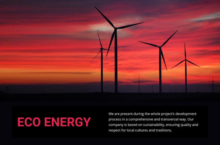 Eco wind energy WordPress Website Builder