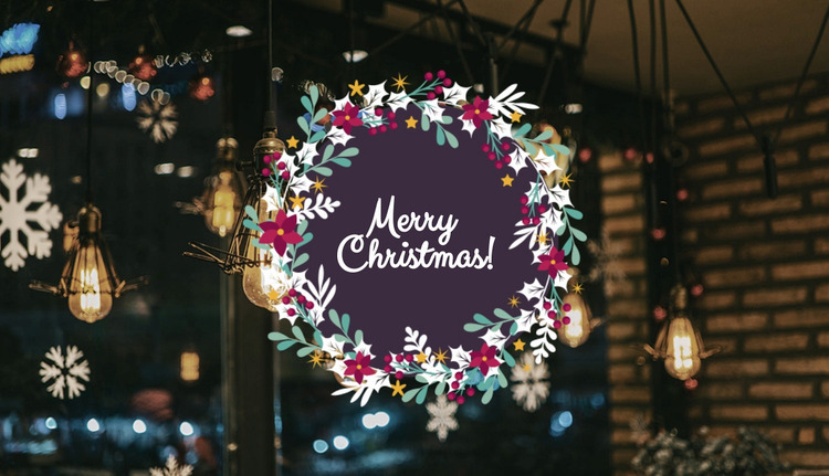 Happy Holidays WordPress Website Builder