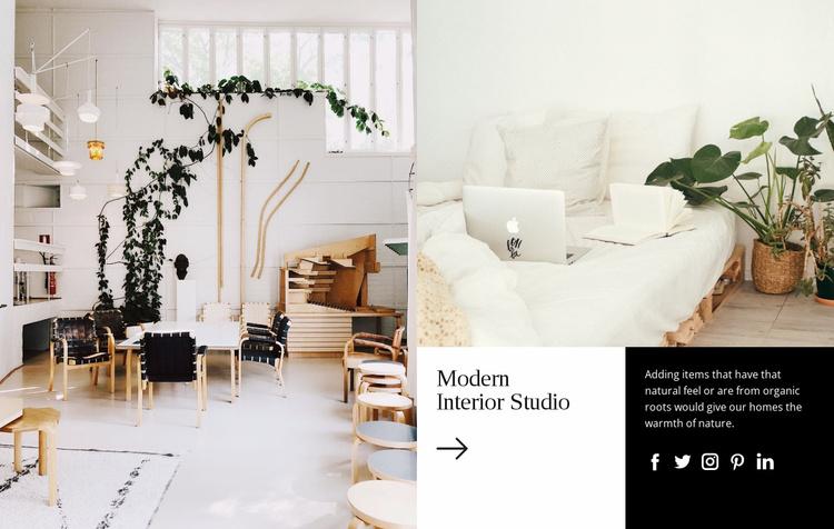 Luxury interior design projects Website Template