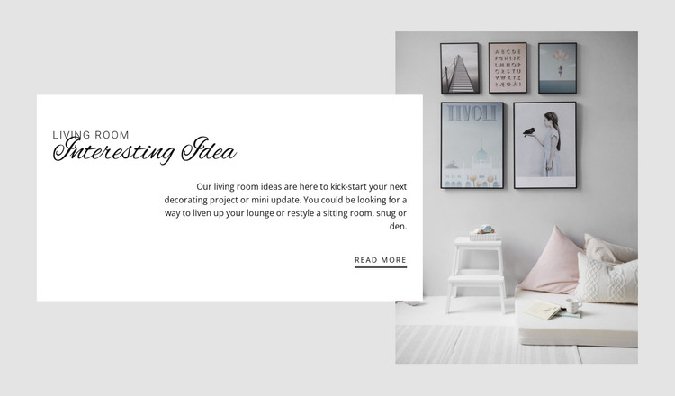 Layout planning HTML Template