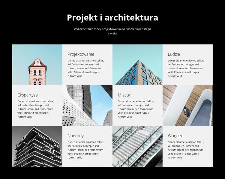 Studio projektowo-architektoniczne Szablon witryny sieci Web