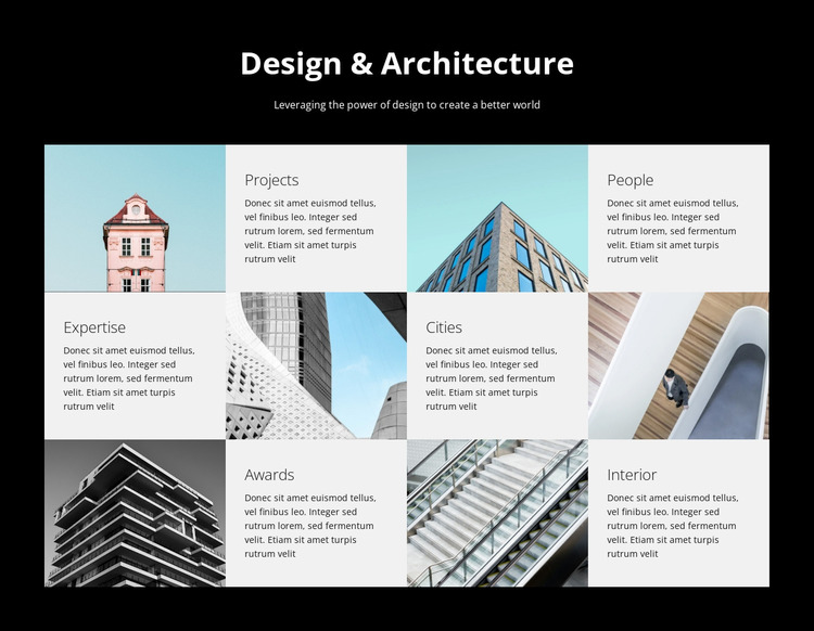 Design and architecture studio WordPress Website Builder