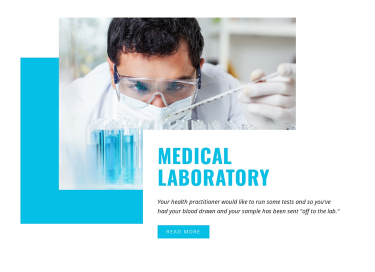Medical and Science laboratory One Page Template