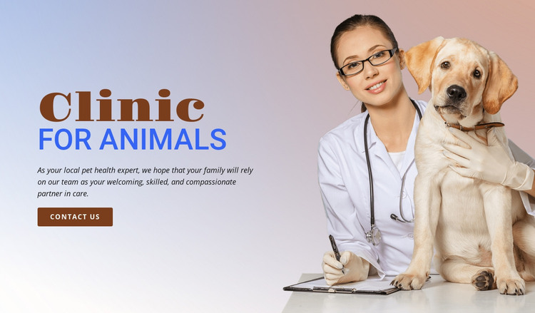 Animal veterinary hospital HTML Template