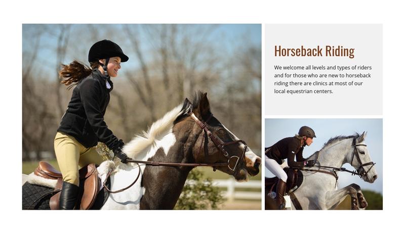 Sport horseback riding  Web Page Design