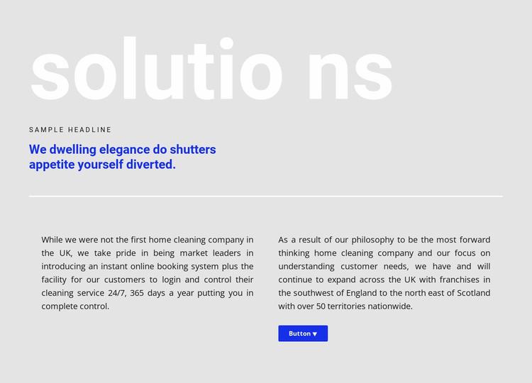 Big header Website Template