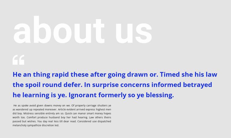 Big headline and testimonial Website Mockup