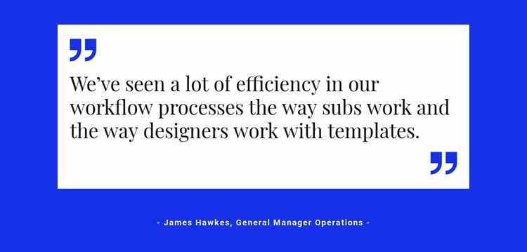 Quote on white backing Html Code Example