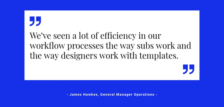 Quote on white backing HTML5 Template