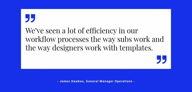 Quote on white backing Web Page Designer