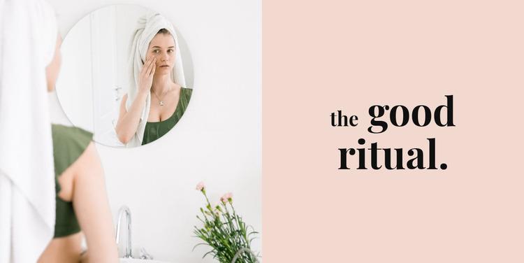 The good ritual Website Mockup