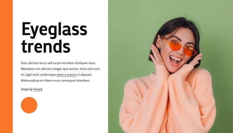 Eyeglass trends Web Page Designer