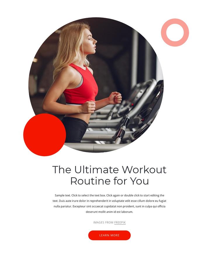 Ultimate workouts Joomla Template