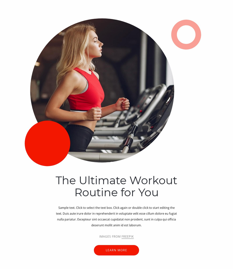 Ultimate workouts Website Template