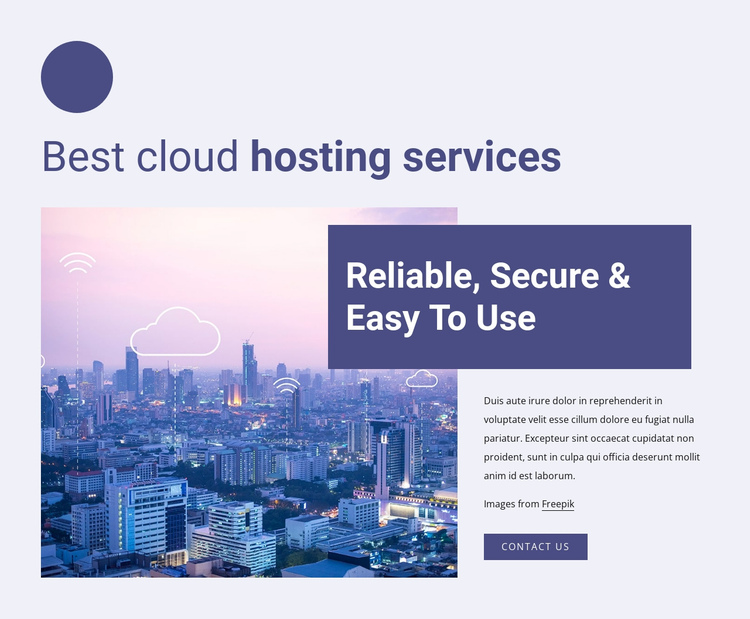 Best cloud hosting services One Page Template