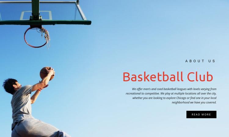 Sport basketball club Website Template