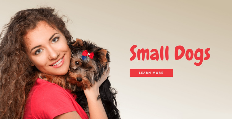 Small dogs for families HTML Template
