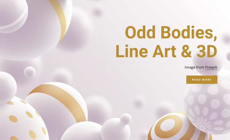 Odd bodies and line art Website Mockup