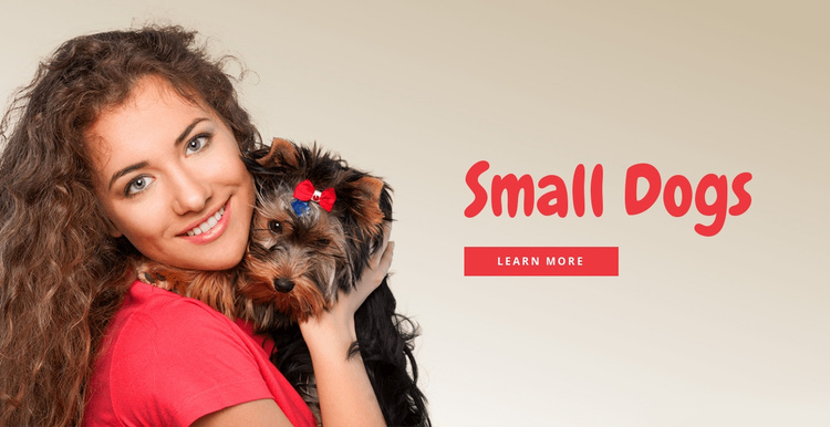 Small dogs for families Website Template