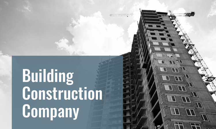 Complex building projects Website Template