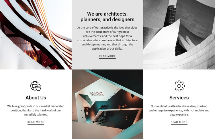 Features checkerboard HTML Template