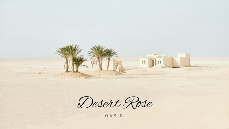 Journey to the oases Website Mockup