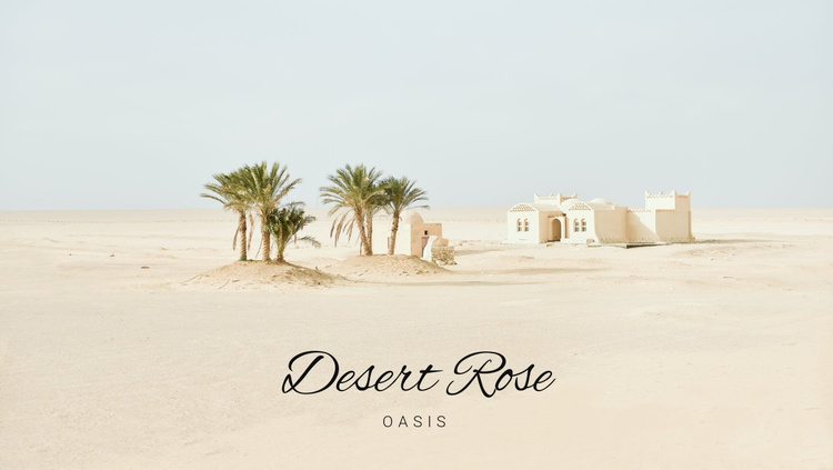 Travel desert tours Website Template