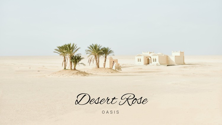 Journey to the oases WordPress Template