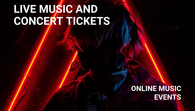 lIve music and concert tickets  Homepage Design