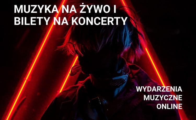 żywa muzyka i bilety na koncerty Szablon Joomla