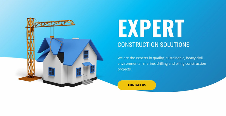 Building and construction company  Website Builder