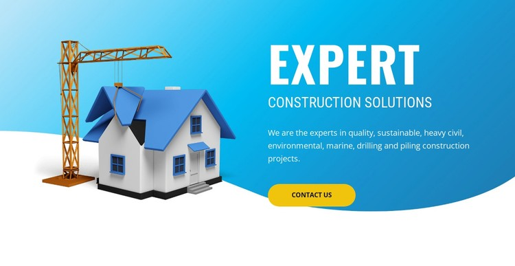 Pre construction solutions WordPress Template